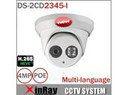 2016 Hikvision New model DS-2CD2345-I 4MP IP Camera IR Array 30m Network Dome Security Camera 4mm Lens