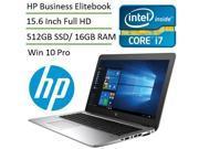 HP EliteBook 850 G3 15.6-inch High Performance Business Laptop L3D23AV (Intel i7 6500U, 16 GB Memory, 512 GB SSD, 15.6 inch Full HD 1920x1080 Display, Bluetooth 4.0, Windows 10 Pro 64)