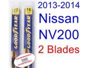2013-2014 Nissan NV200 Replacement Wiper Blade Set/Kit (Set of 2 Blades)