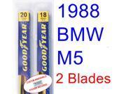 1988 BMW M5 Replacement Wiper Blade Set/Kit (Set of 2 Blades)
