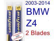 2003-2014 BMW Z4 Replacement Wiper Blade Set/Kit (Set of 2 Blades) (2004,2005,2006,2007,2008,2009,2010,2011,2012,2013) 9SIA89T32H3987