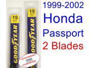 1999-2002 Honda Passport Replacement Wiper Blade Set/Kit (Set of 2 Blades) (2000,2001)