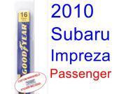 2010 Subaru Impreza WRX STI Special Edition Wiper Blade (Passenger) 9SIA89T32K8477