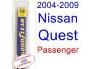 2004-2009 Nissan Quest Wiper Blade (Passenger) (2005,2006,2007,2008)