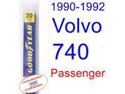 1990-1992 Volvo 740 Wiper Blade (Passenger) (1991)
