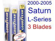 2000-2005 Saturn L-Series Replacement Wiper Blade Set/Kit (Set of 3 Blades) (2001,2002,2003,2004) 9SIA89T32K8549