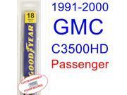 1991-2000 GMC C3500HD Wiper Blade (Passenger) (1992,1993,1994,1995,1996,1997,1998,1999) 9SIA89T32M0199