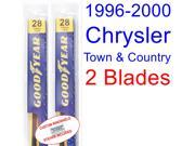 1996-2000 Chrysler Town & Country Replacement Wiper Blade Set/Kit (Set of 2 Blades) (1997,1998,1999)