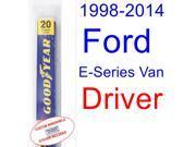 1998-2014 Ford E-Series Van Wiper Blade (Driver) (1999,2000,2001,2002,2003,2004,2005,2006,2007,2008,2009,2010,2011,2012,2013) 9SIA89T32M0486