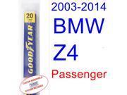 2003-2014 BMW Z4 Wiper Blade (Passenger) (2004,2005,2006,2007,2008,2009,2010,2011,2012,2013) 9SIA89T32M0054