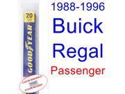 1988-1996 Buick Regal Wiper Blade (Passenger) (1989,1990,1991,1992,1993,1994,1995)
