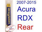 2007-2015 Acura RDX Wiper Blade (Rear) (2008,2009,2010,2011,2012,2013,2014) 9SIA89T30Z1142