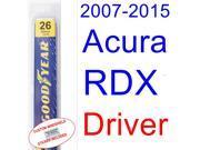 2007-2015 Acura RDX Wiper Blade (Driver) (2008,2009,2010,2011,2012,2013,2014) 9SIA89T30Z1143