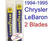 1994-1995 Chrysler LeBaron Replacement Wiper Blade Set/Kit (Set of 2 Blades)