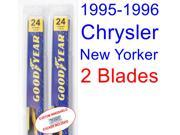 1995-1996 Chrysler New Yorker Replacement Wiper Blade Set/Kit (Set of 2 Blades)