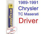1989-1991 Chrysler TC Maserati Wiper Blade (Driver) (1990)