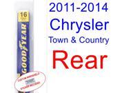 2011-2014 Chrysler Town & Country Wiper Blade (Rear) (2012,2013)
