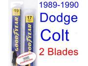 1989-1990 Dodge Colt Replacement Wiper Blade Set/Kit (Set of 2 Blades)