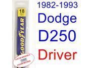 1982-1993 Dodge D250 Wiper Blade (Driver) (1983,1984,1985,1986,1987,1988,1989,1990,1991,1992)