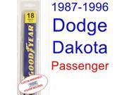 1987-1996 Dodge Dakota Wiper Blade (Passenger) (1988,1989,1990,1991,1992,1993,1994,1995) 9SIA89T3112041