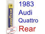 1983 Audi Quattro Wiper Blade (Rear)