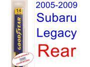 2005-2009 Subaru Legacy Wiper Blade (Rear) (2006,2007,2008)