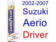 2002-2007 Suzuki Aerio Wiper Blade (Driver) (2003,2004,2005,2006)
