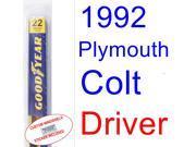 1992 Plymouth Colt(Vista SE) Wiper Blade (Driver)