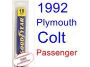 1992 Plymouth Colt(Vista SE) Wiper Blade (Passenger)