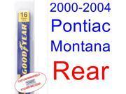 2000-2004 Pontiac Montana Wiper Blade (Rear) (2001,2002,2003)