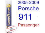 2005-2009 Porsche 911 Wiper Blade (Passenger) (2006,2007,2008)