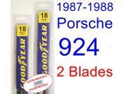 1987-1988 Porsche 924 Replacement Wiper Blade Set/Kit (Set of 2 Blades)