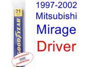 1997-2002 Mitsubishi Mirage Wiper Blade (Driver) (1998,1999,2000,2001) 9SIA89T3111096