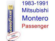 1983-1991 Mitsubishi Montero Wiper Blade (Passenger) (1984,1985,1986,1987,1988,1989,1990)