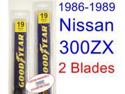 1986-1989 Nissan 300ZX Replacement Wiper Blade Set/Kit (Set of 2 Blades) (1987,1988)