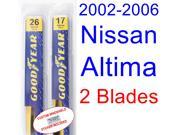 2002-2006 Nissan Altima Replacement Wiper Blade Set/Kit (Set of 2 Blades) (2003,2004,2005)