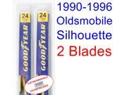 1990-1996 Oldsmobile Silhouette Replacement Wiper Blade Set/Kit (Set of 2 Blades) (1991,1992,1993,1994,1995)