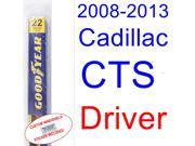 2008-2013 Cadillac CTS Wiper Blade (Driver) (2009,2010,2011,2012)