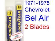 1971-1975 Chevrolet Bel Air Replacement Wiper Blade Set/Kit (Set of 2 Blades) (1972,1973,1974)