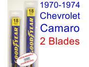 1970-1974 Chevrolet Camaro Replacement Wiper Blade Set/Kit (Set of 2 Blades) (1971,1972,1973)