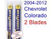 2004-2012 Chevrolet Colorado Replacement Wiper Blade Set/Kit (Set of 2 Blades) (2005,2006,2007,2008,2009,2010,2011)