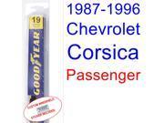 1987-1996 Chevrolet Corsica Wiper Blade (Passenger) (1988,1989,1990,1991,1992,1993,1994,1995) 9SIA89T3112153