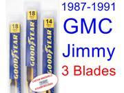 1987-1991 GMC Jimmy Replacement Wiper Blade Set/Kit (Set of 3 Blades) (1988,1989,1990)