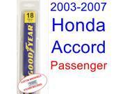 2003-2007 Honda Accord Wiper Blade (Passenger) (2004,2005,2006)
