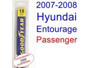 2007-2008 Hyundai Entourage Wiper Blade (Passenger)