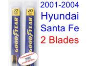 2001-2004 Hyundai Santa Fe Replacement Wiper Blade Set/Kit (Set of 2 Blades) (2002,2003)