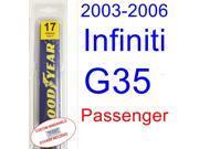 2003-2006 Infiniti G35(Coupe) Wiper Blade (Passenger) (2004,2005)
