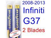 2008-2013 Infiniti G37(Coupe) Replacement Wiper Blade Set/Kit (Set of 2 Blades) (2009,2010,2011,2012)