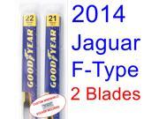 2014 Jaguar F-Type Replacement Wiper Blade Set/Kit (Set of 2 Blades)
