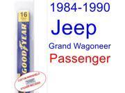1984-1990 Jeep Grand Wagoneer Wiper Blade (Passenger) (1985,1986,1987,1988,1989)